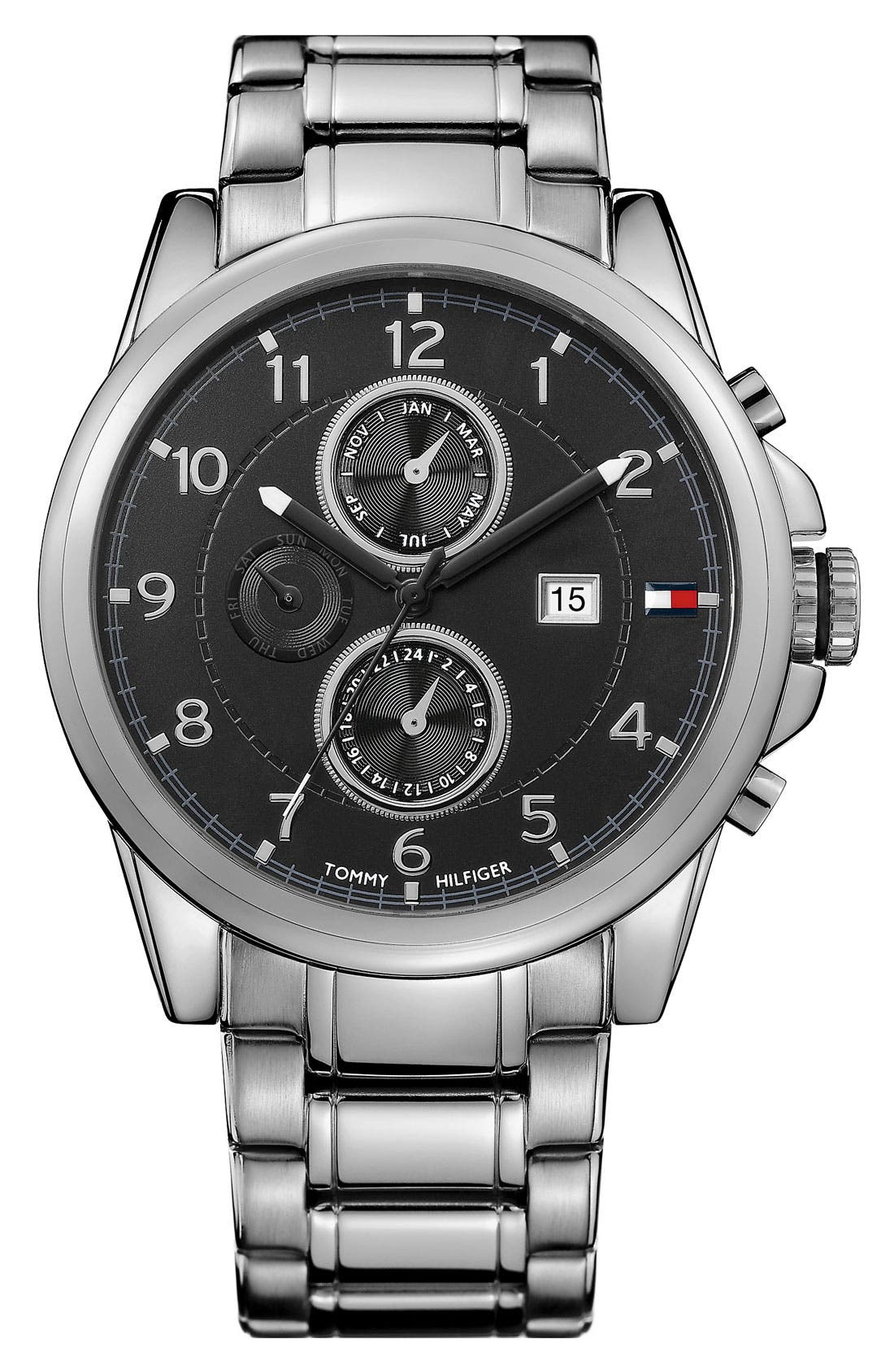Alternate Image 1 Selected - Tommy Hilfiger Multi Eye Bracelet Watch, 46mm