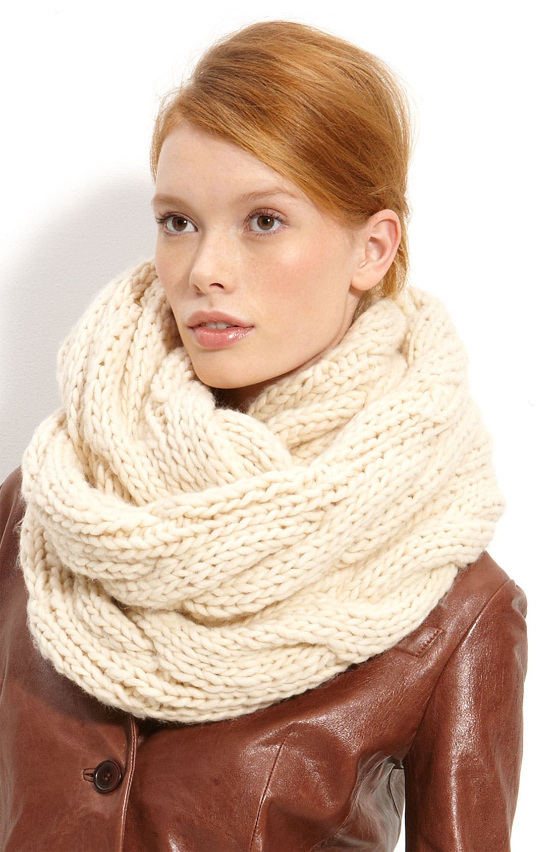 Alternate Image 1 Selected - Trouvé Cable Knit Circle Scarf