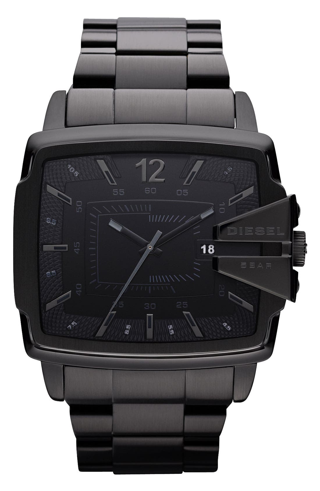 Alternate Image 1 Selected - DIESEL® Large Square Bracelet Watch