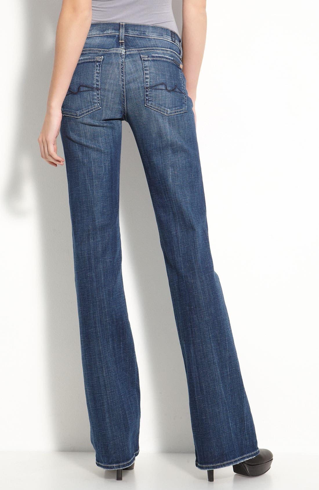 Alternate Image 2  - 7 For All Mankind® Stretch Denim Bootcut Jeans (Vintage Flash Wash)