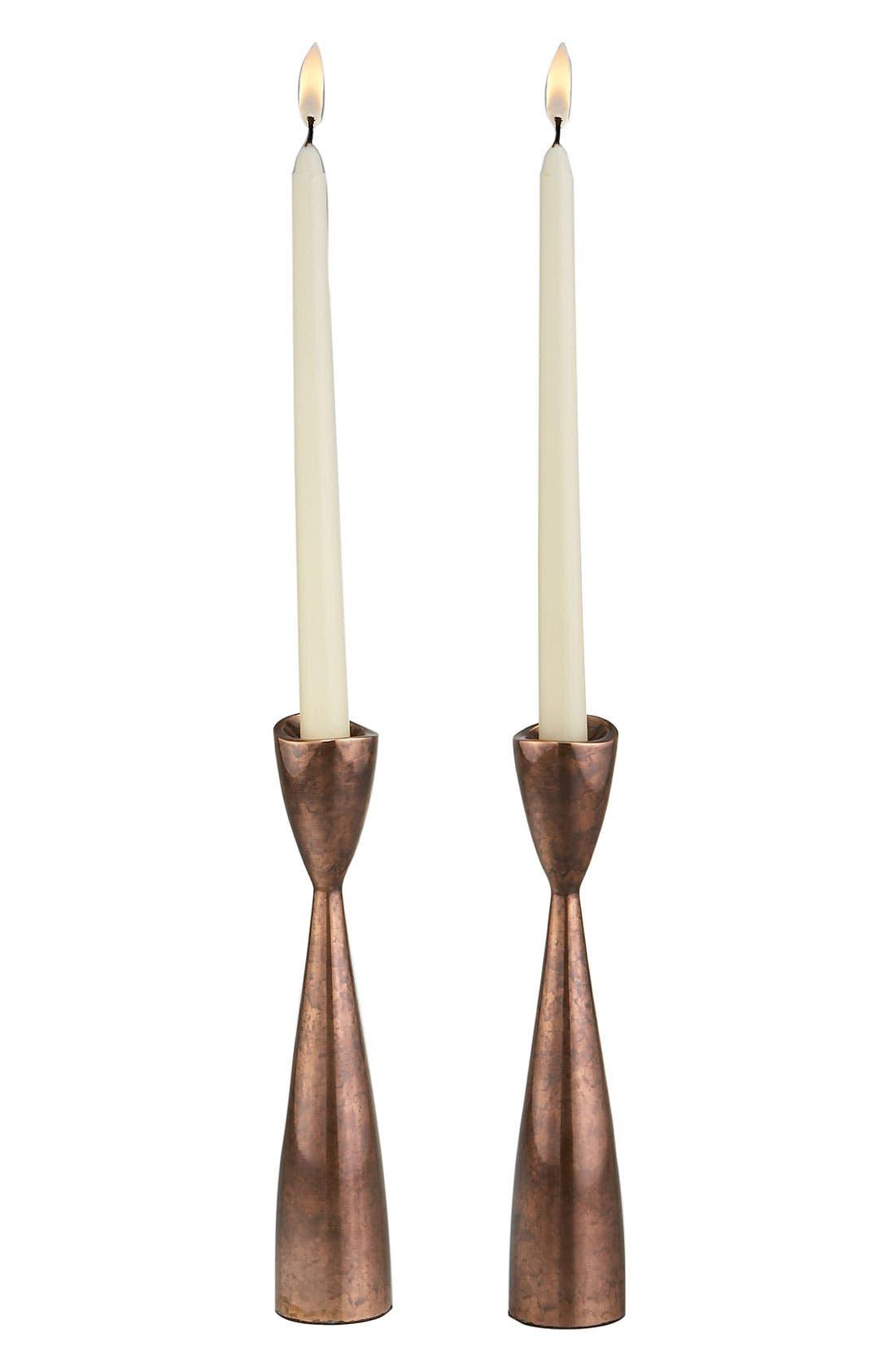 Main Image - Nambé 'Heritage Pebble' Candlesticks (Set of 2)
