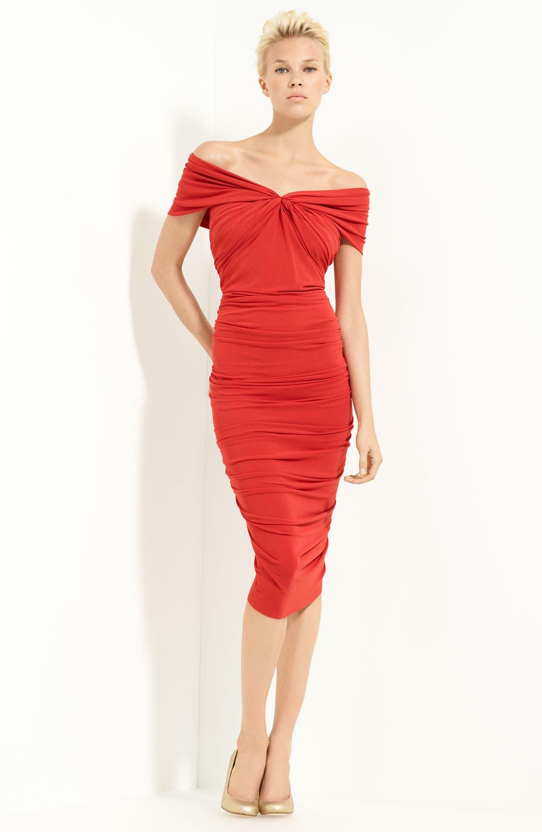 Alternate Image 1 Selected - Lanvin Techno Jersey Off Shoulder Dress