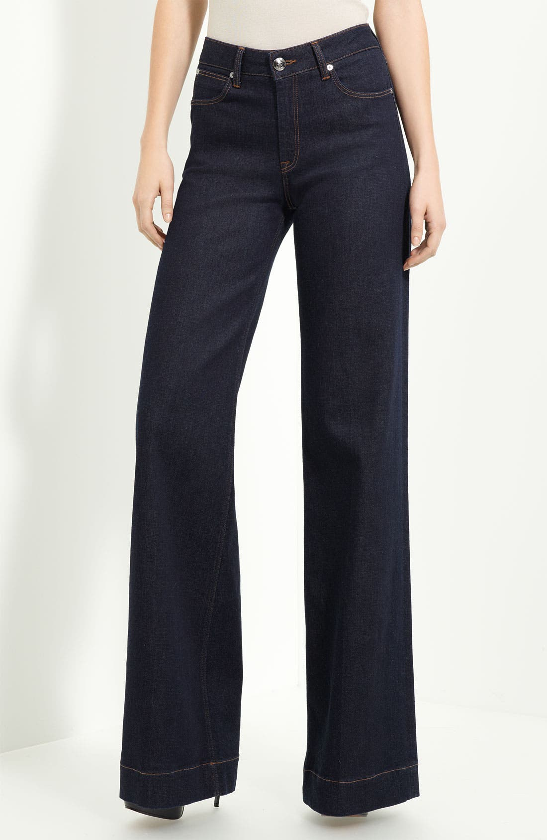 Alternate Image 2  - Burberry London Wide Leg Stretch Jeans (New London Rinse)
