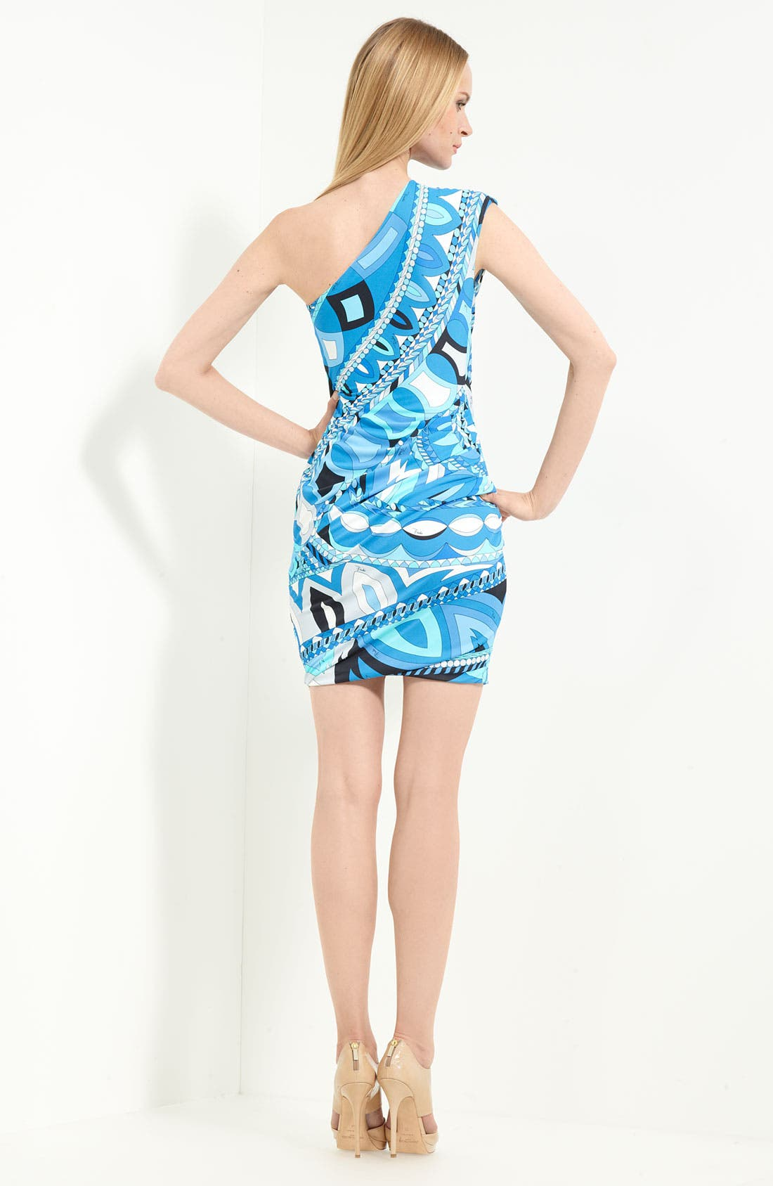 Alternate Image 2  - Emilio Pucci 'Icon Print' One Shoulder Jersey Dress