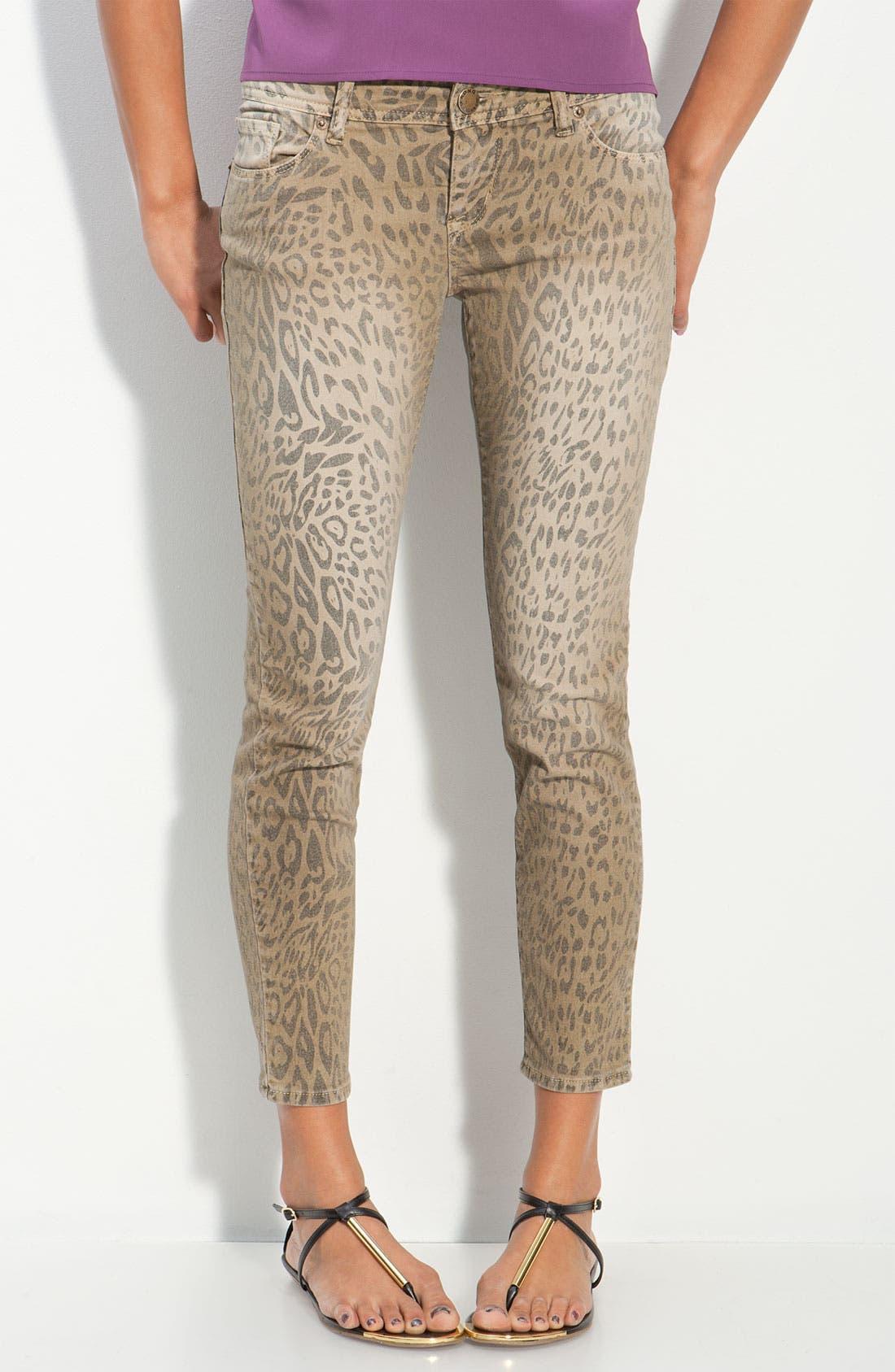 Alternate Image 2  - S.O.N.G. Animal Print Skinny Jeans (Juniors)