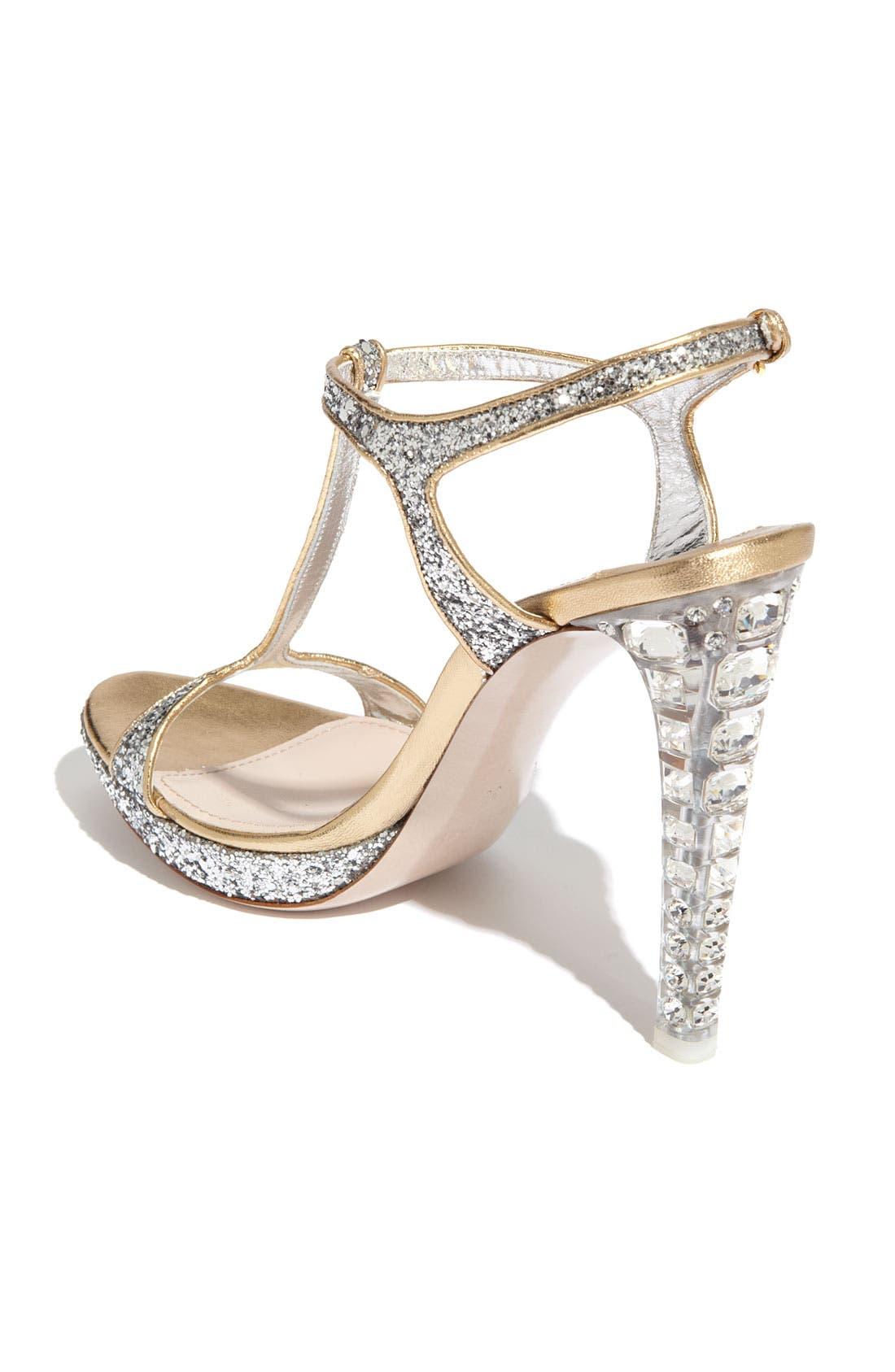 Alternate Image 2  - Miu Miu Glitter T-Strap Platform Sandal