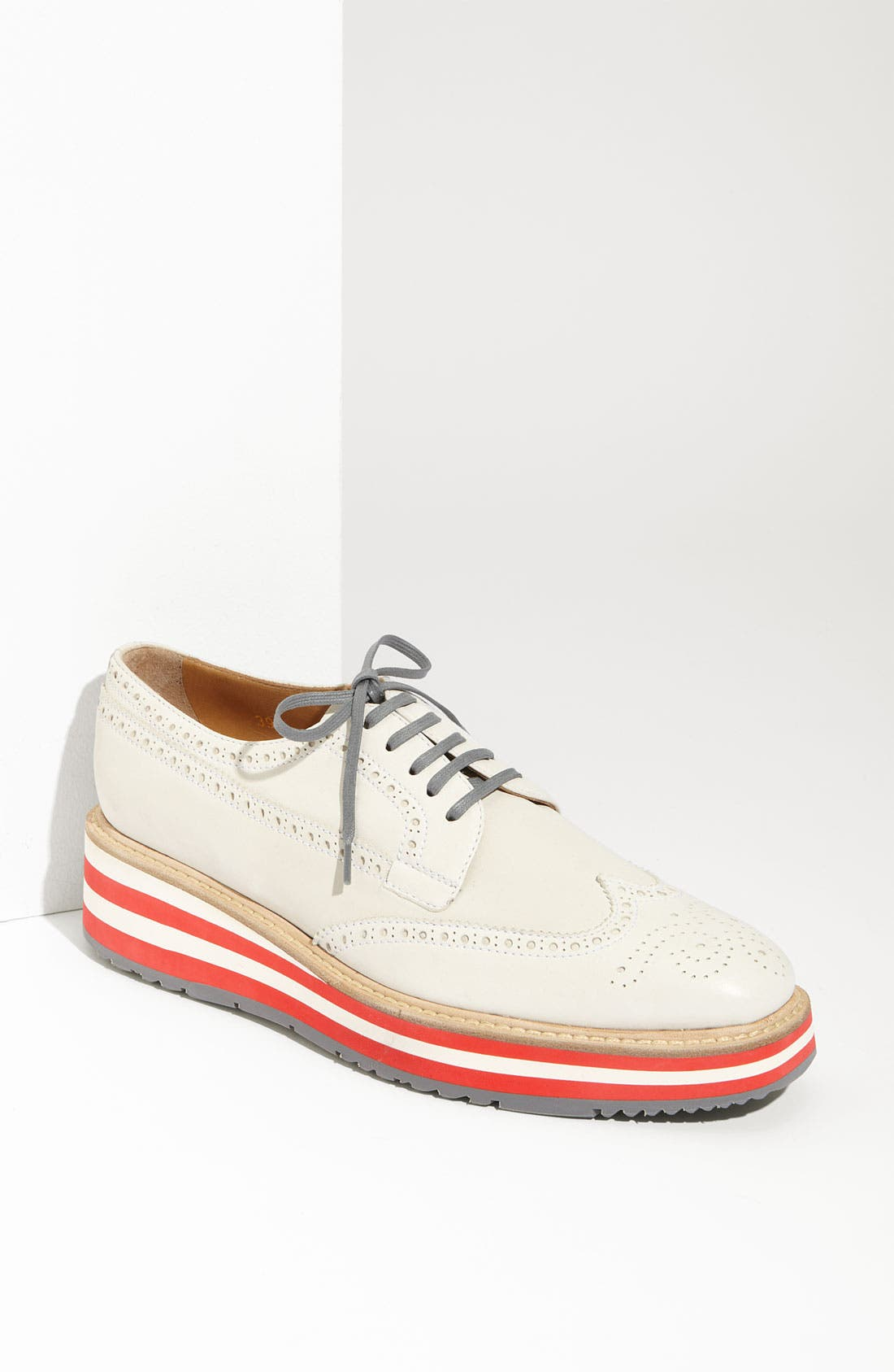 Alternate Image 1 Selected - Prada Cork Platform Oxford