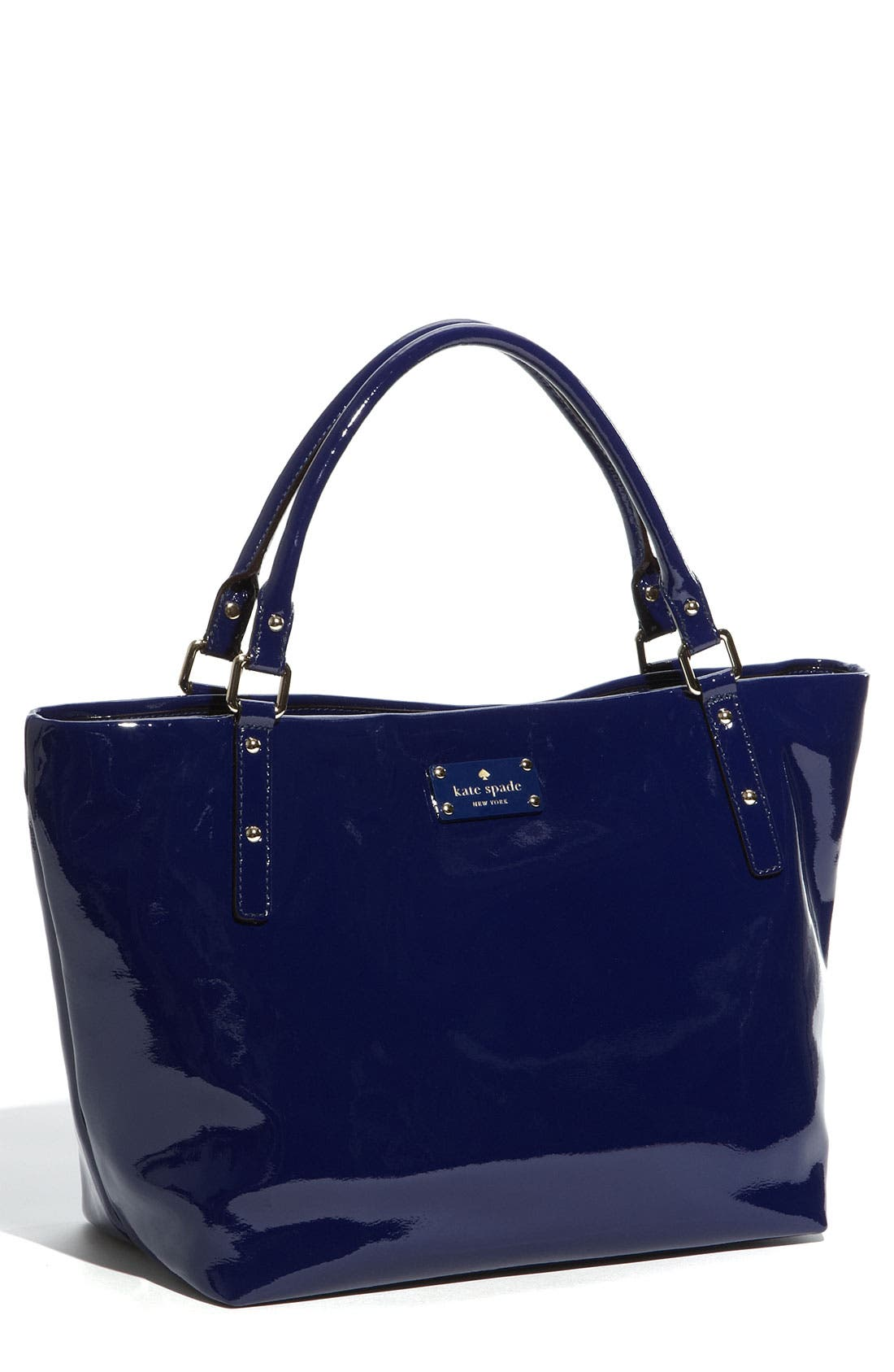 Main Image - kate spade new york 'flicker - sophie' crinkled patent shoulder bag
