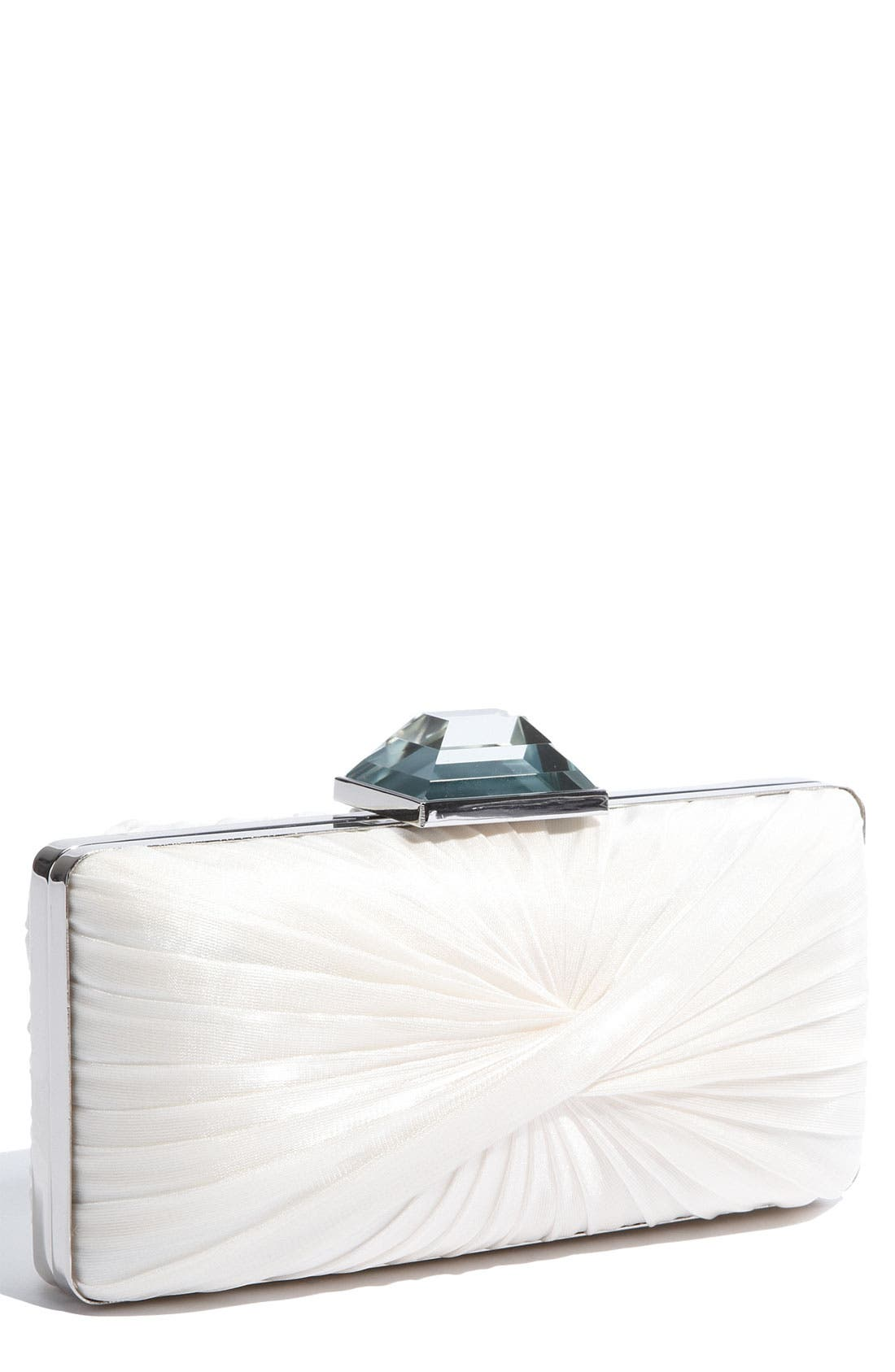 Main Image - Sondra Roberts 'Twist Pleat' Satin Clutch