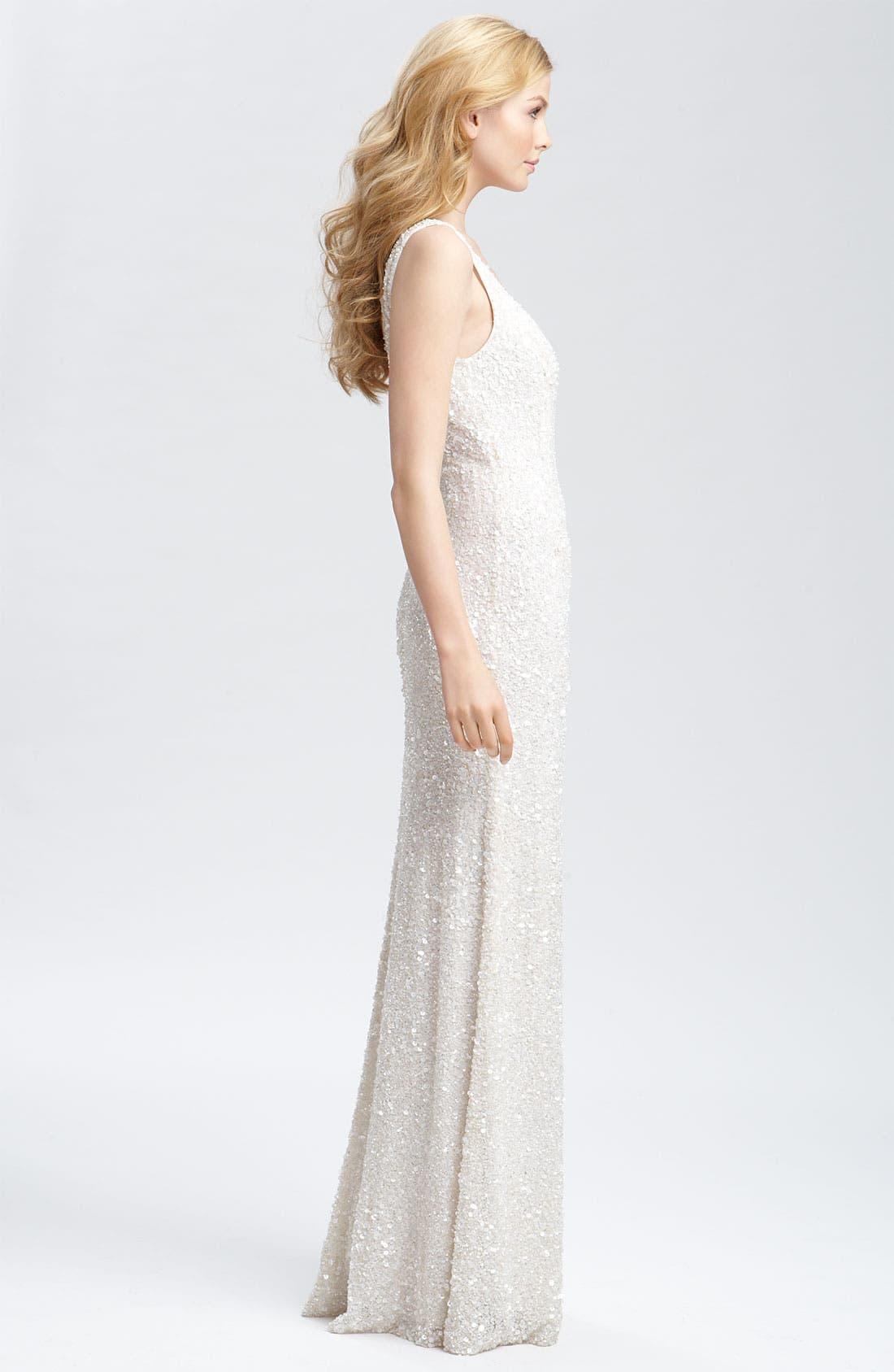 Alternate Image 3  - Theia Beaded Sleeveless Gown