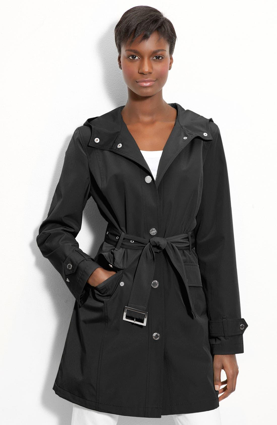 Alternate Image 1 Selected - London Fog Hooded Trench Coat