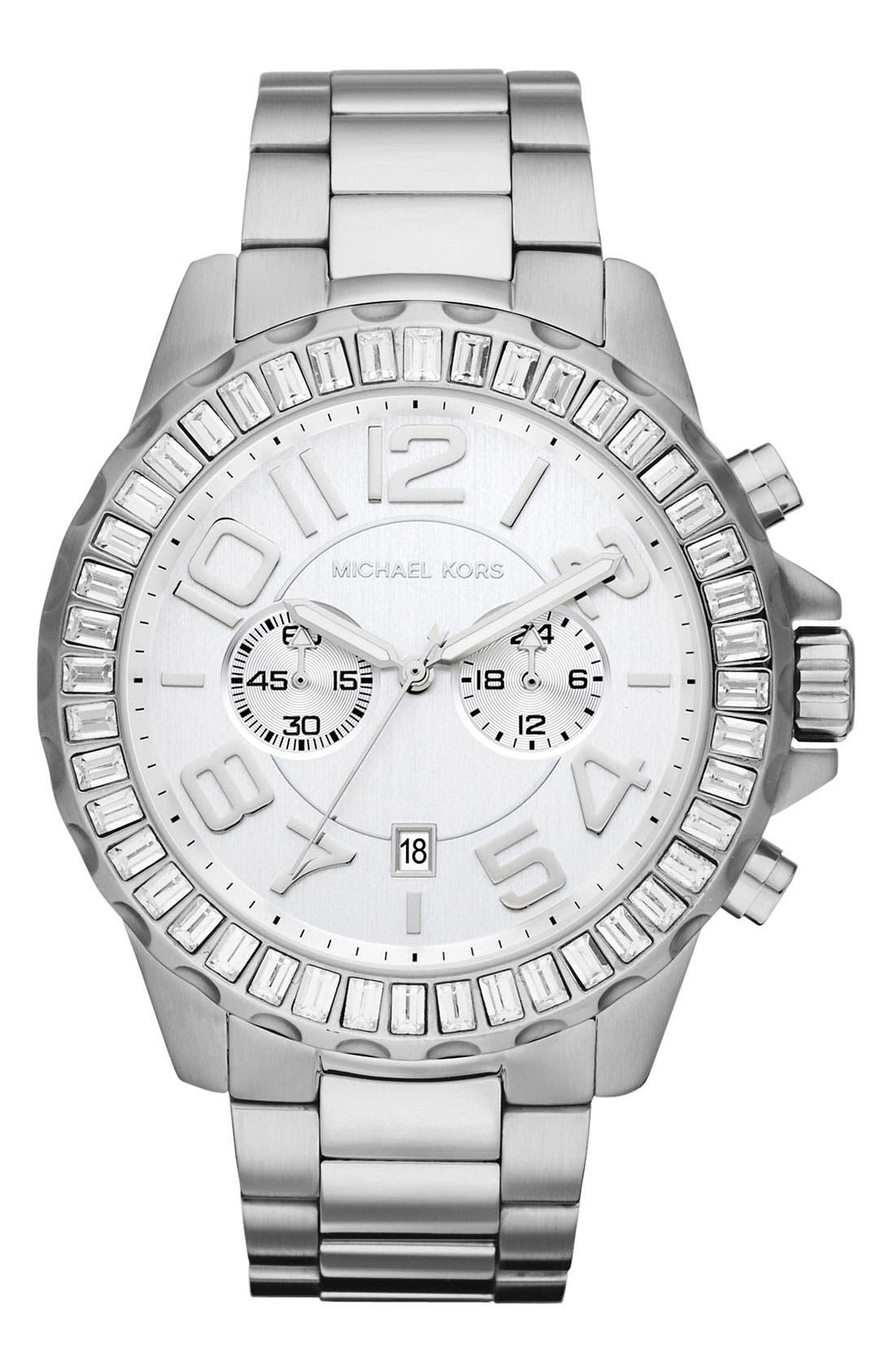 Alternate Image 1 Selected - Michael Kors 'Rox Chrono' Bracelet Watch