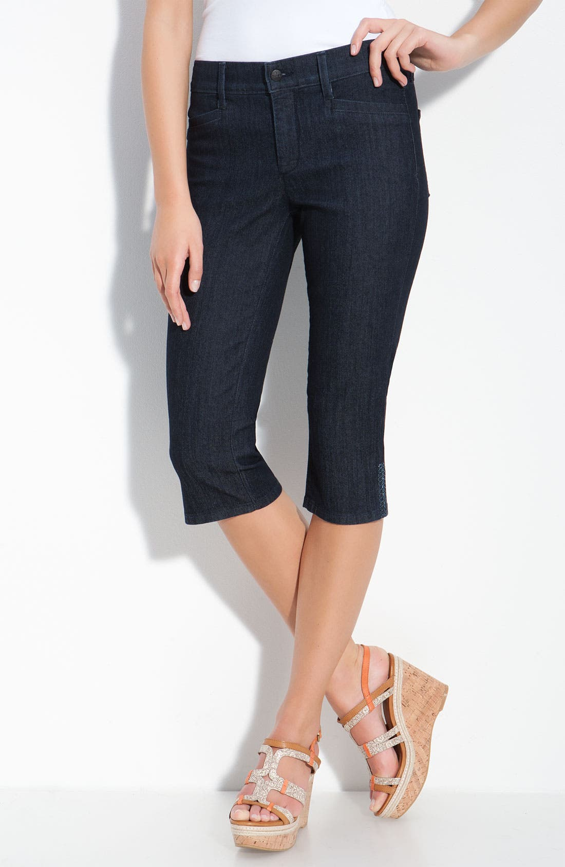 Alternate Image 1 Selected - NYDJ 'Joan' Embellished Crop Stretch Jeans