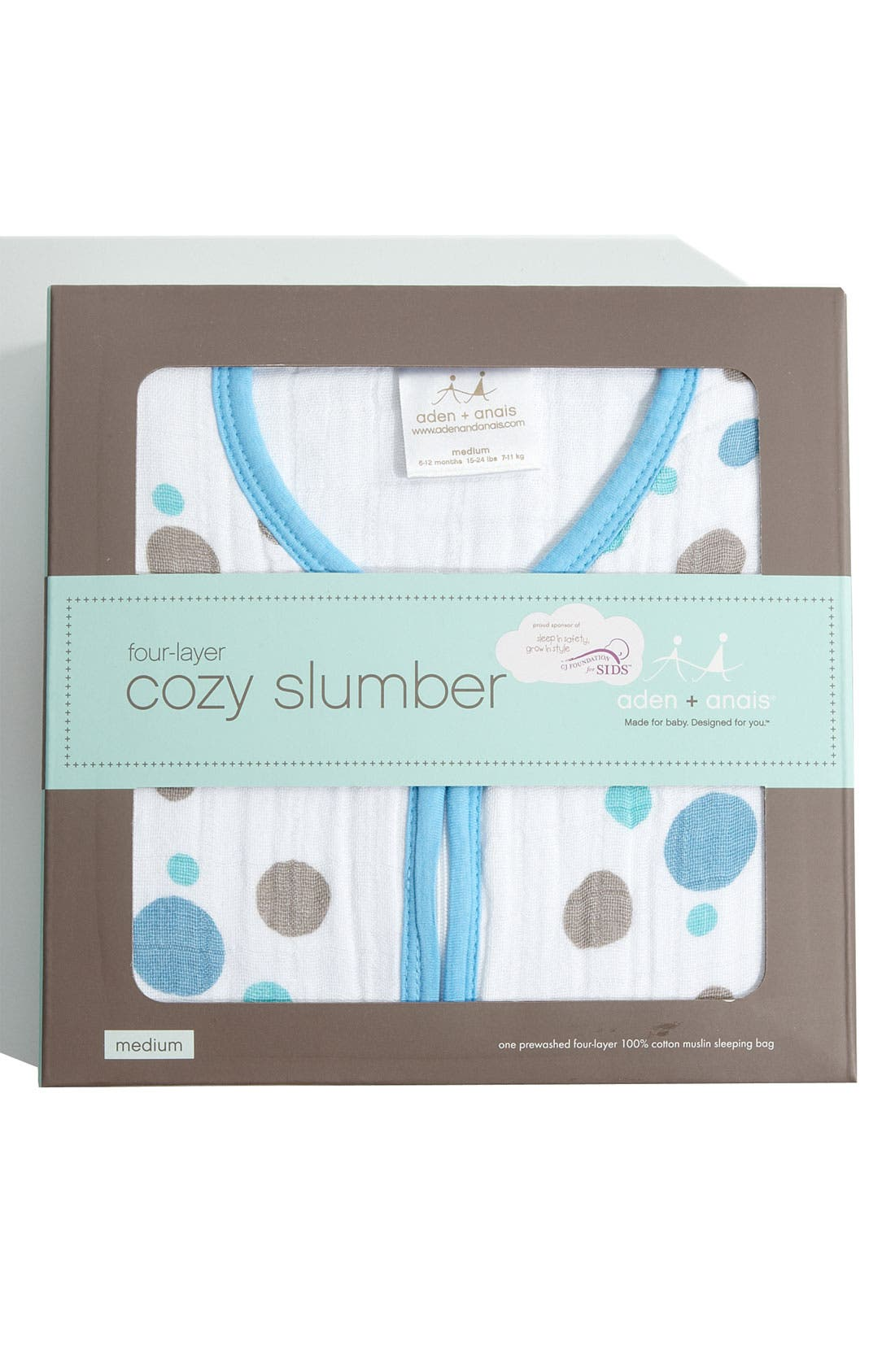 Alternate Image 2  - aden + anais 'Cozy Sleeping Bag' Wearable Blanket (Baby)