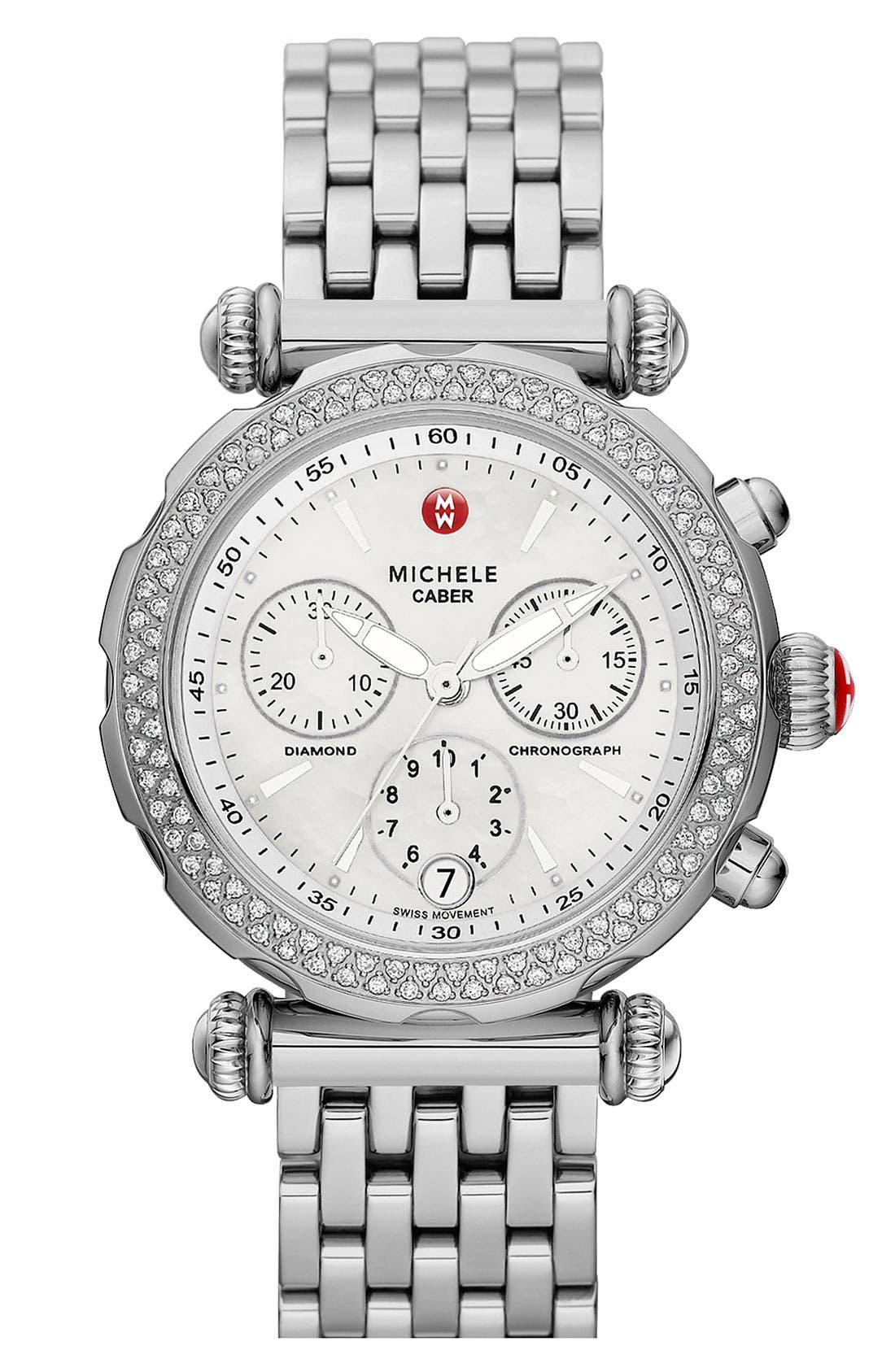 Main Image - MICHELE 'Caber Sport' Customizable Diamond Watch