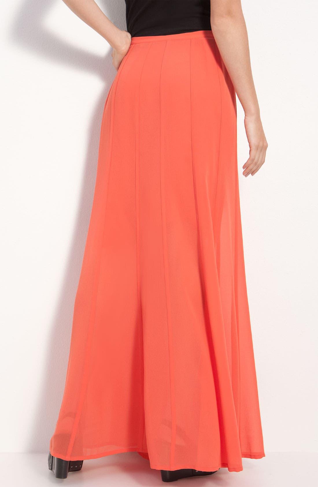 Alternate Image 2  - Hinge® Sheer Chiffon Maxi Skirt