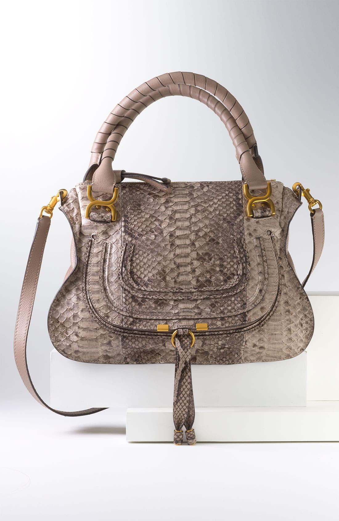 Alternate Image 5  - Chloé 'Marcie - Small' Genuine Python Satchel