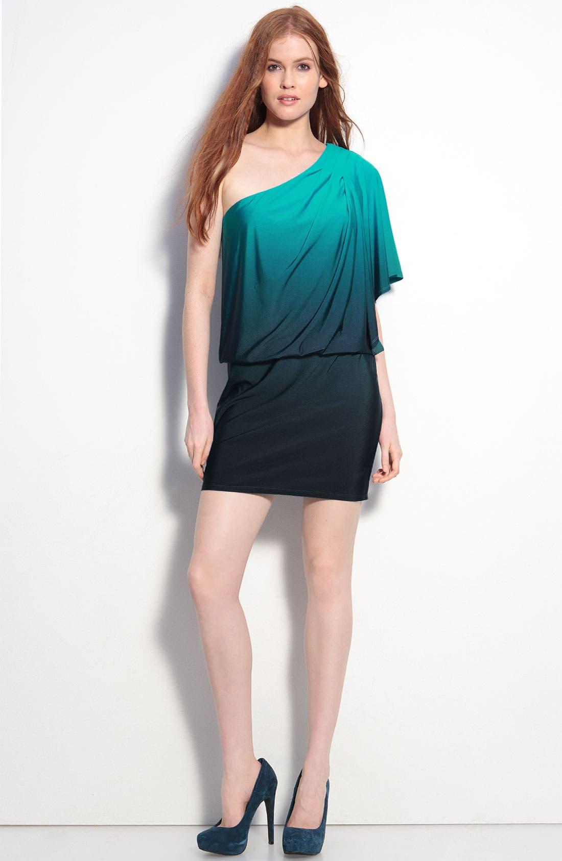 Alternate Image 4  - JS Boutique Ombré One Shoulder Jersey Dress