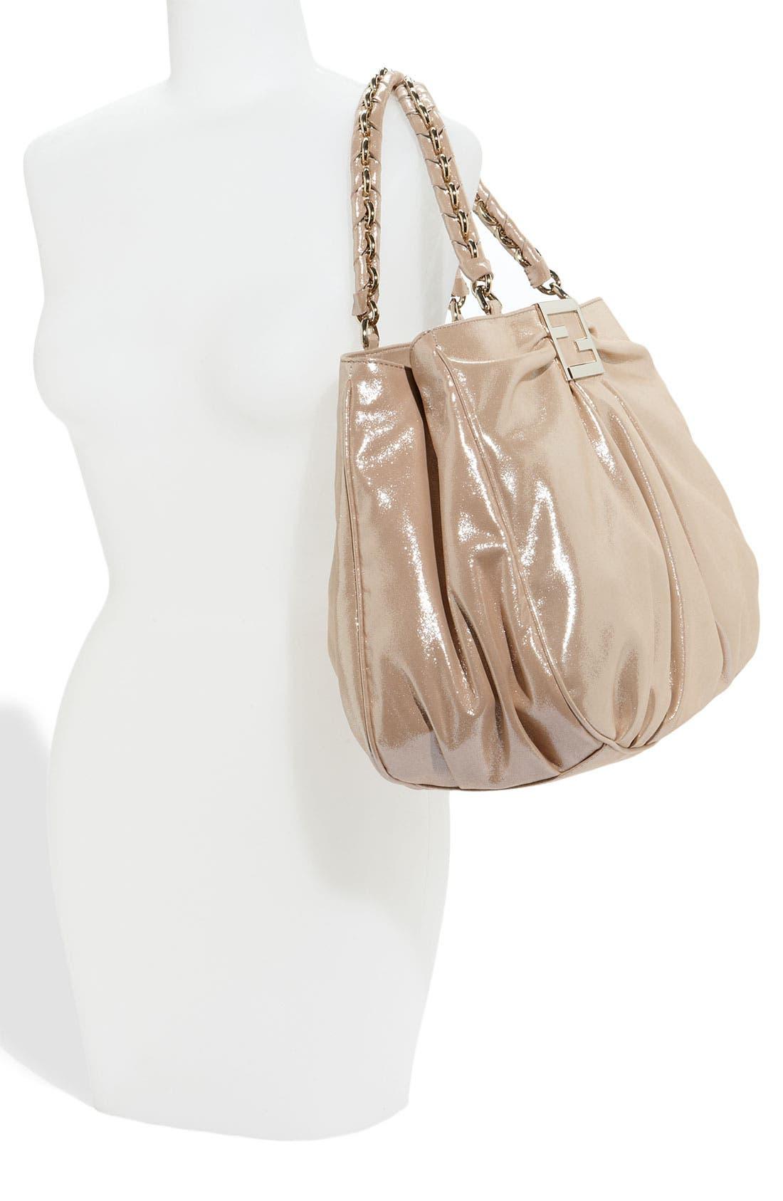 Alternate Image 2  - Fendi 'Mia - Large' Metallic Calfskin Shopper