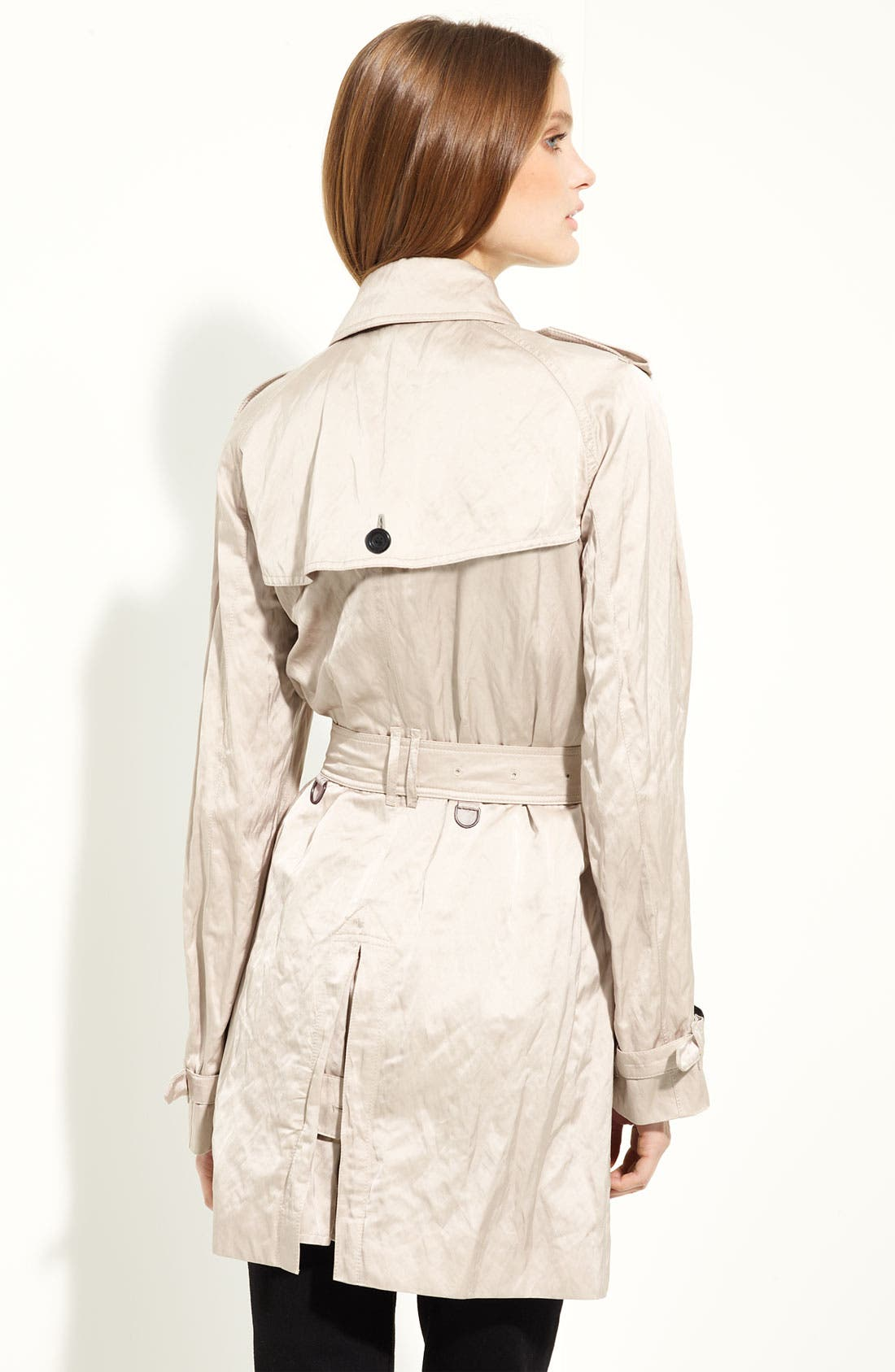 Alternate Image 2  - Burberry London Belted Satin Trench