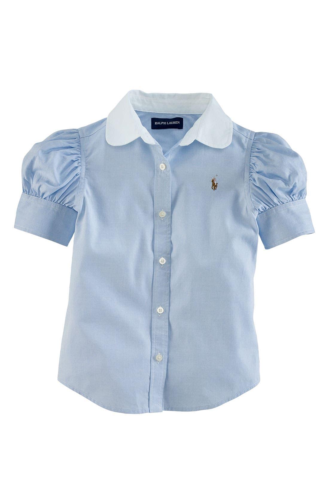 Main Image - Ralph Lauren Pinpoint Oxford Shirt (Toddler)