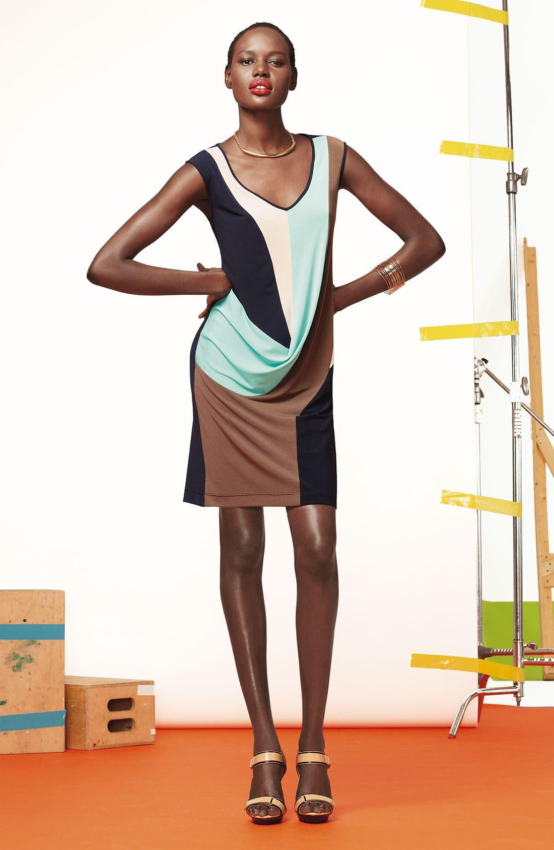 Alternate Image 4  - Suzi Chin for Maggy Boutique Draped Colorblock Sheath Dress