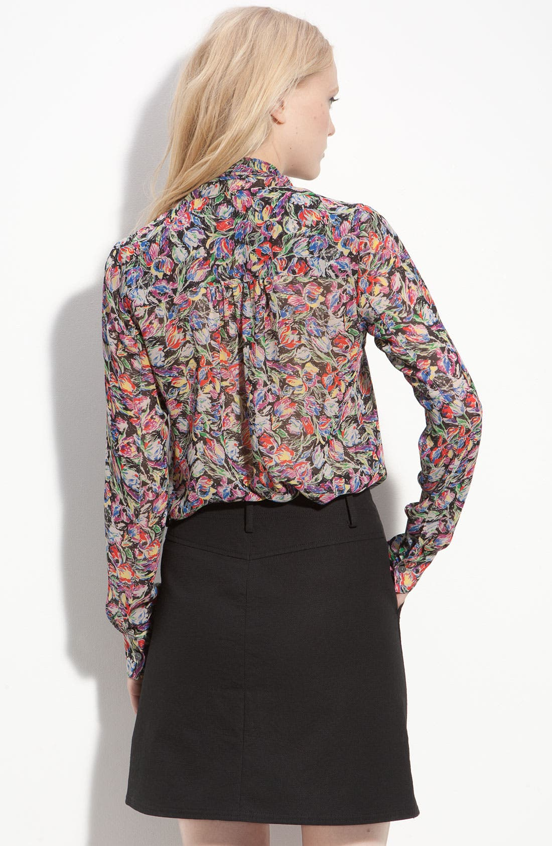 Alternate Image 2  - Derek Lam 10 Crosby Sheer Floral Tie Neck Blouse
