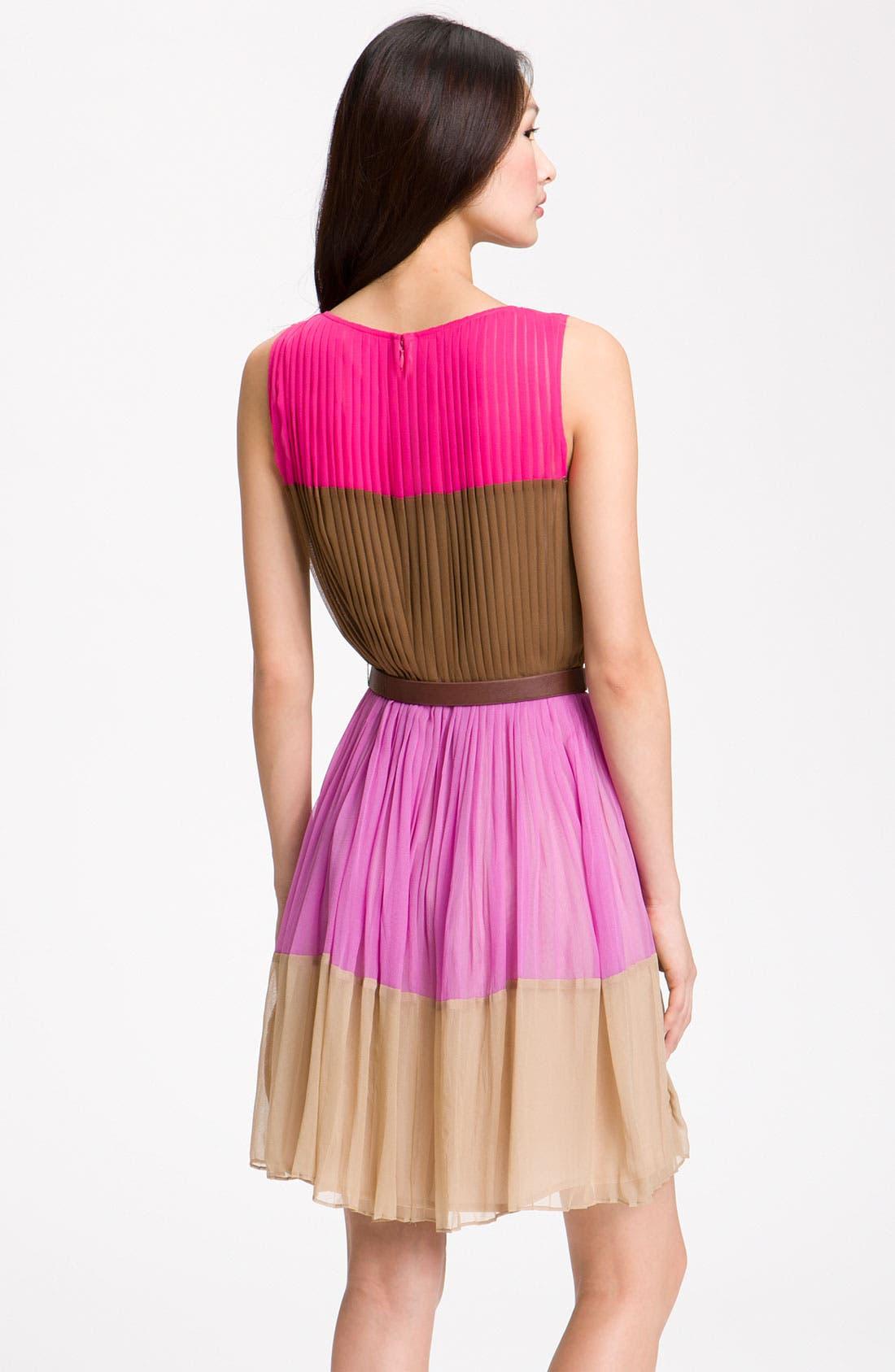 Alternate Image 2  - Julie Dillon Colorblock Chiffon Dress