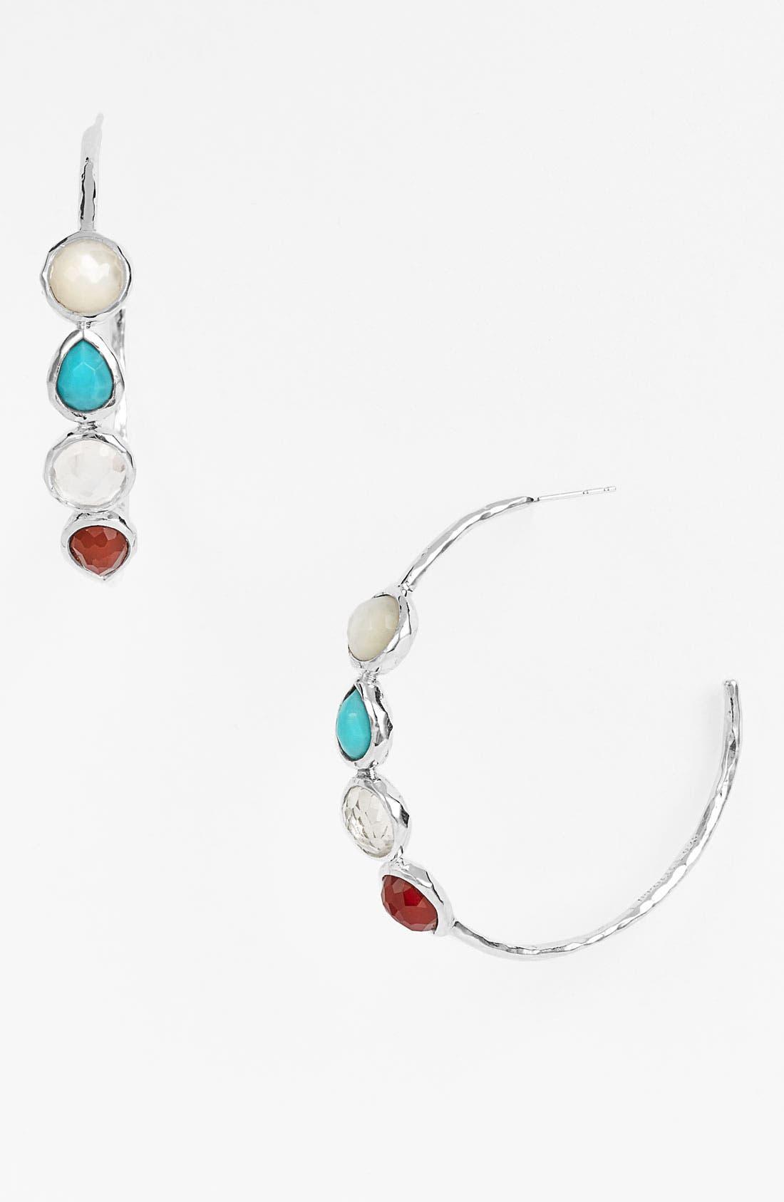 Alternate Image 1 Selected - Ippolita 'Grotto' 4-Stone Hoop Earrings