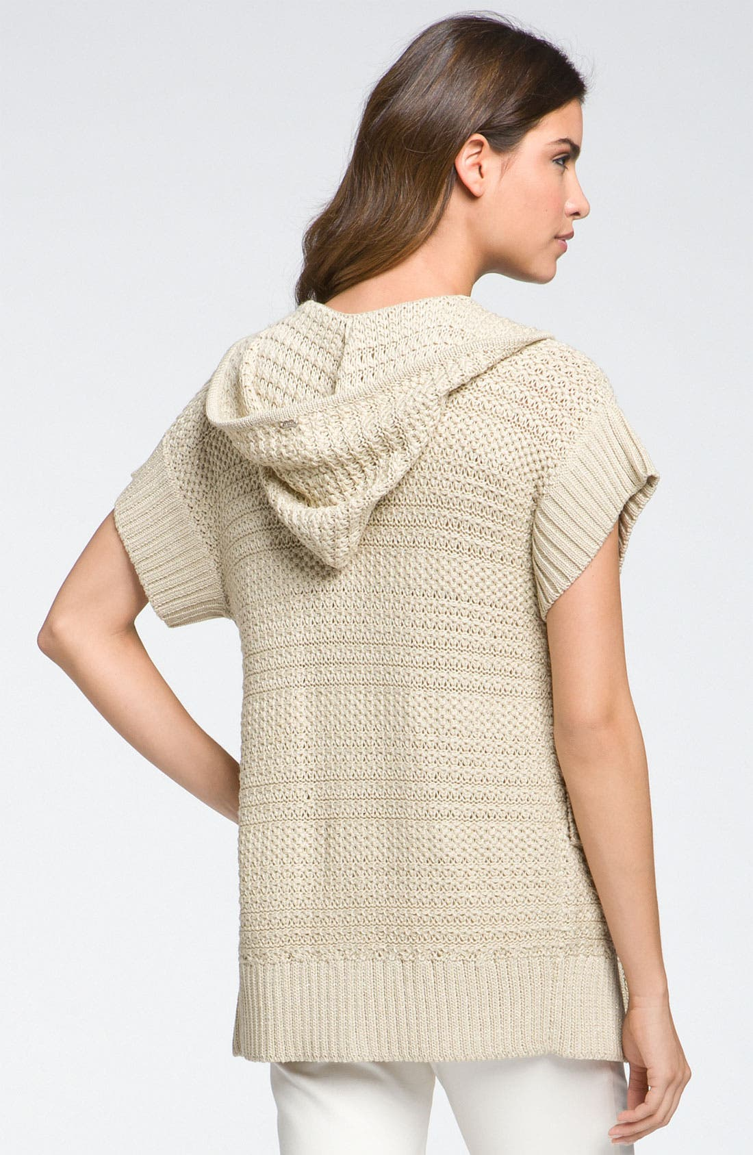 Alternate Image 2  - St John Yellow Label Textured Knit Hooded Cardigan