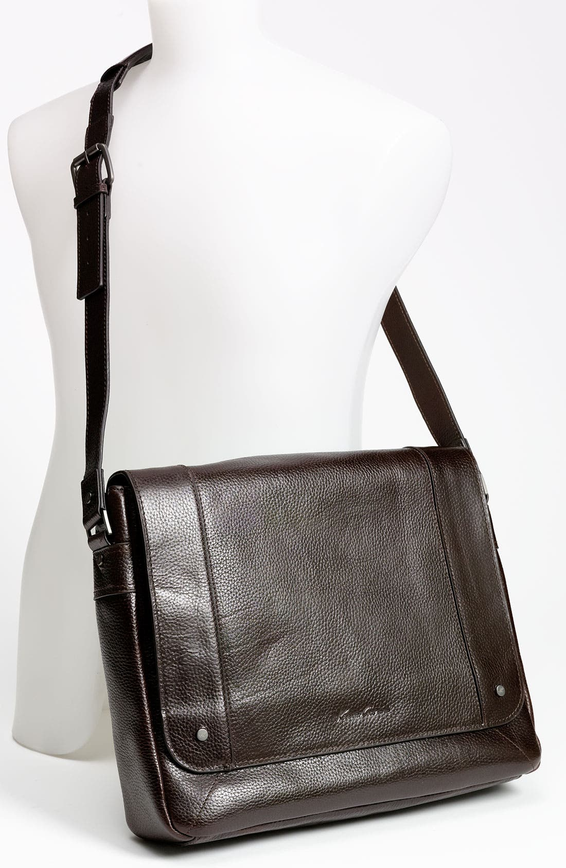 Alternate Image 4  - Kenneth Cole New York 'Heritage' Leather Messenger Bag