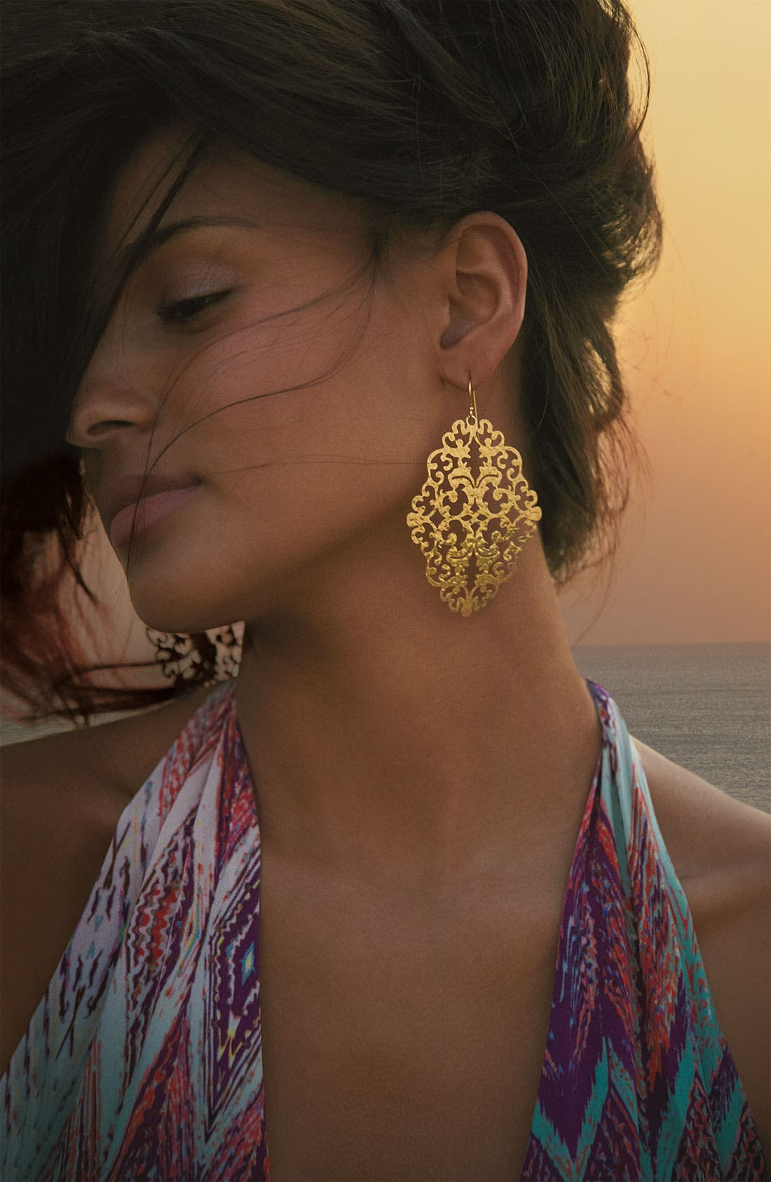 Alternate Image 3  - Argento Vivo 'Artisanal Lace' Diamond Shape Earrings (Nordstrom Exclusive)