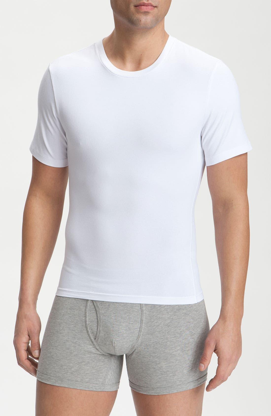 Main Image - SPANX® Cotton Control Crewneck T-Shirt