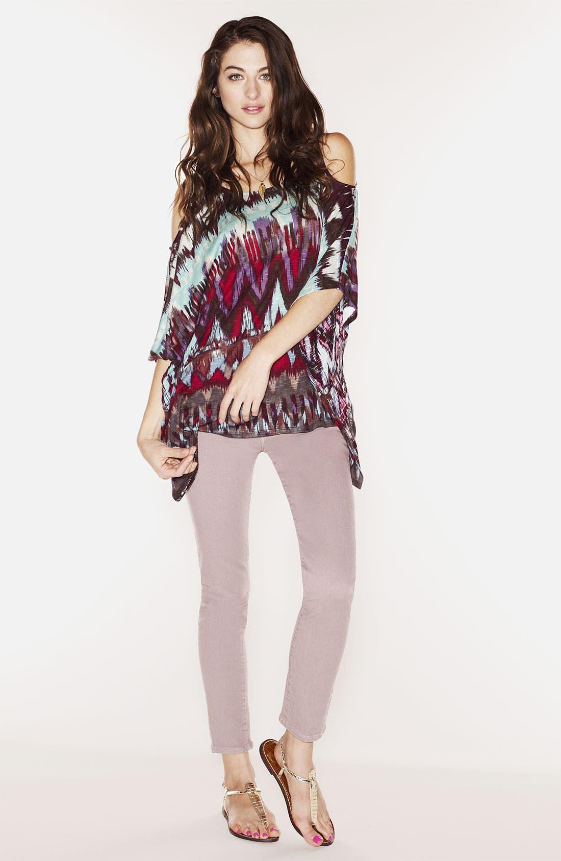 Alternate Image 4  - Ella Moss Slouchy Print Cold Shoulder Top