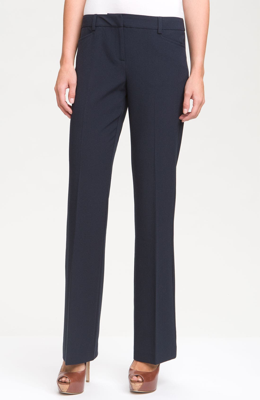 Alternate Image 1 Selected - MICHAEL Michael Kors Stretch Trousers (Petite)