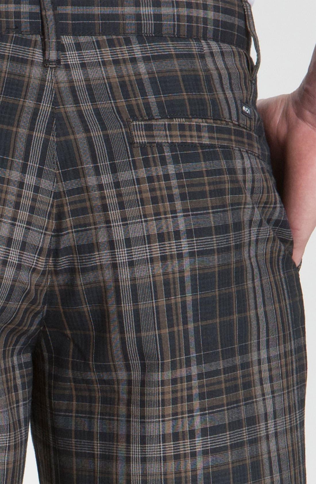 Alternate Image 3  - RVCA 'Delta' Plaid Shorts
