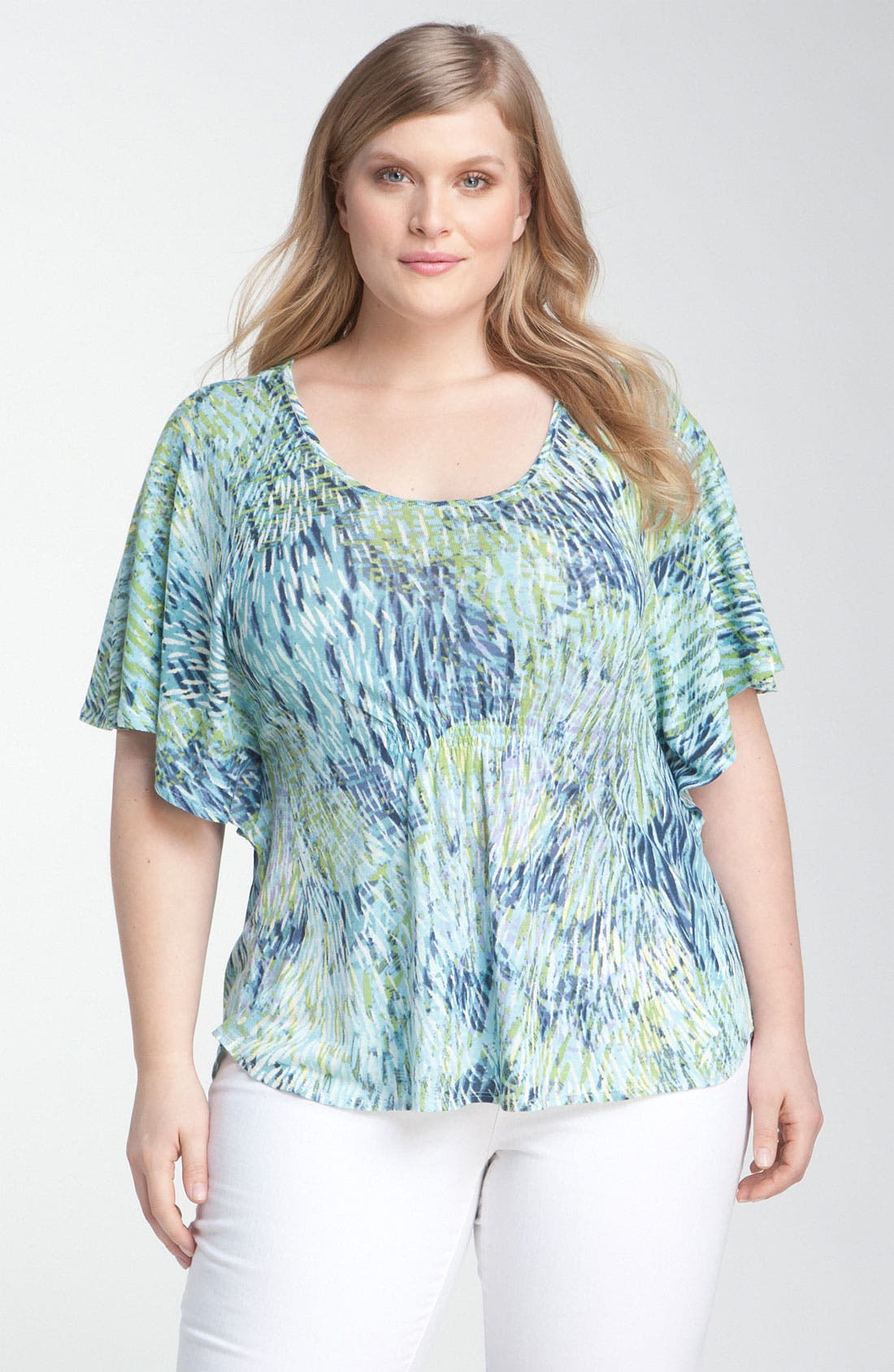 Main Image - Nic + Zoe 'Sweeping Petals' Top (Plus)