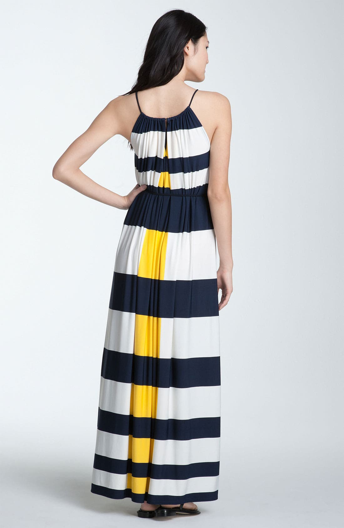 Alternate Image 2  - Maggy London Nautical Stripe Maxi Dress