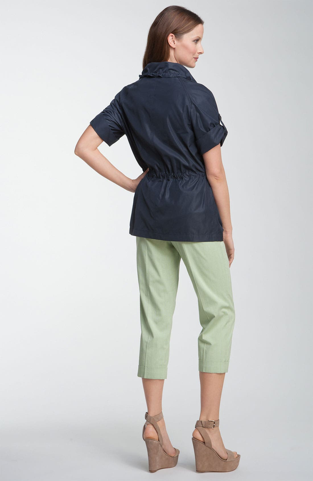 Alternate Image 5  - Lafayette 148 New York 'Static Stripe' Cuffed Crop Pants