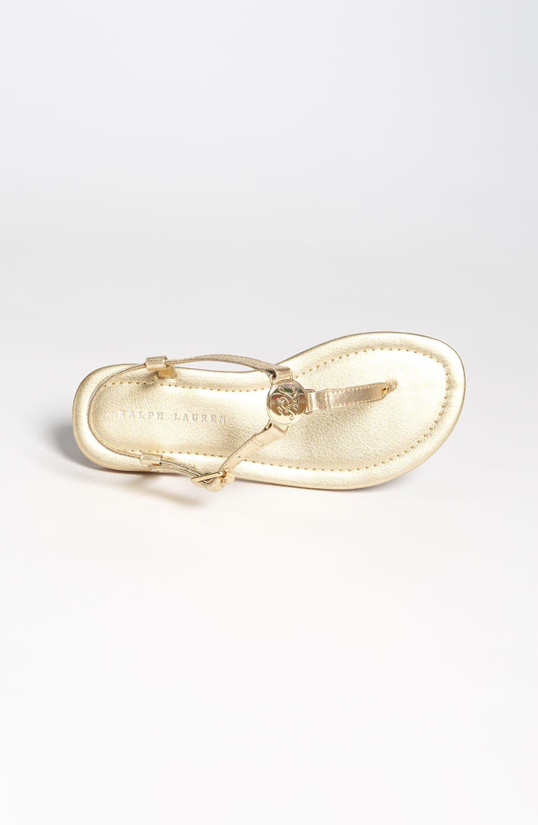 Alternate Image 3  - Ralph Lauren Kids Patent Leather Sandal (Baby, Walker, Toddler, Little Kid & Big Kid)