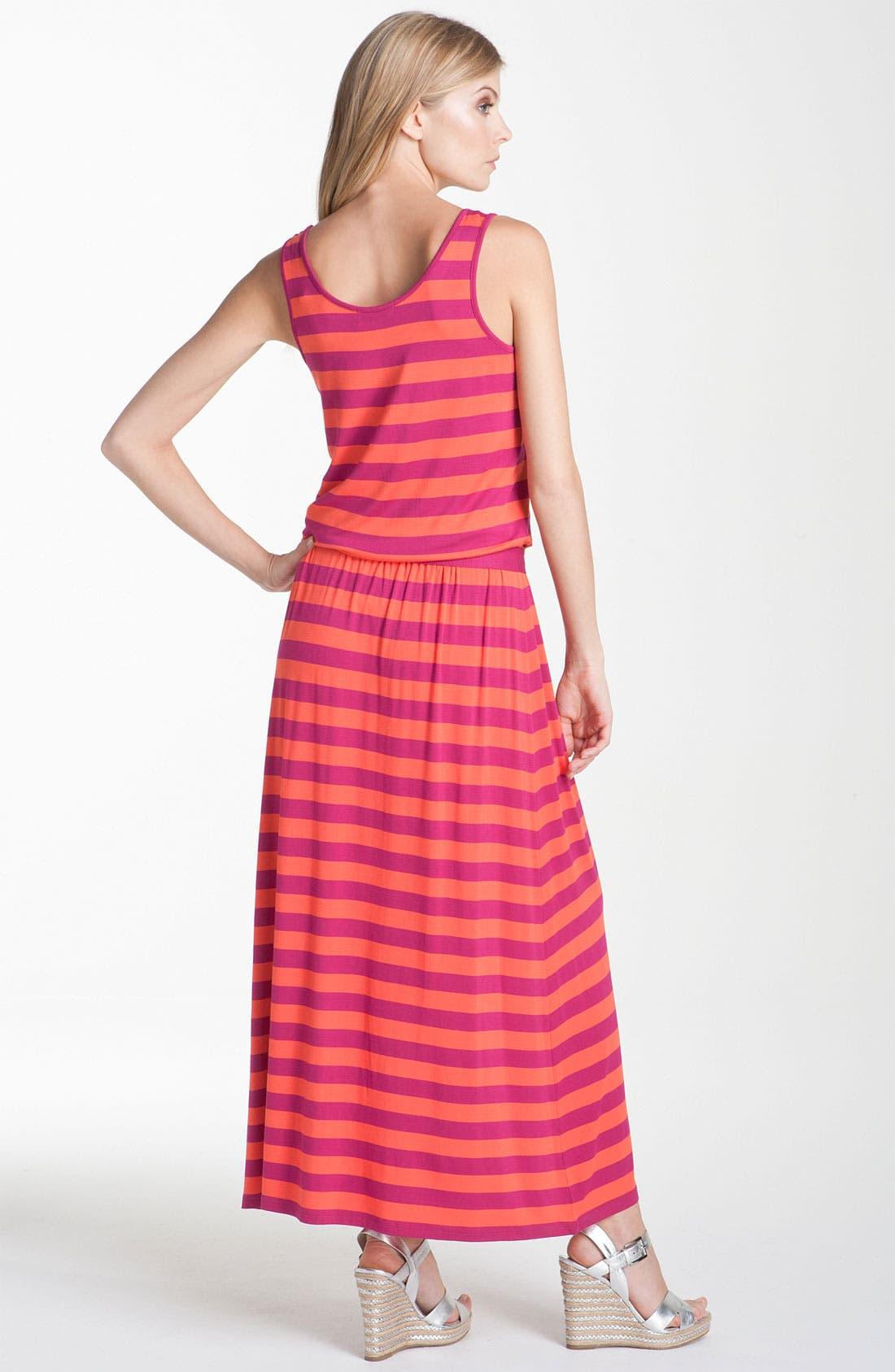 Alternate Image 2  - MICHAEL Michael Kors Stripe Jersey Maxi Dress
