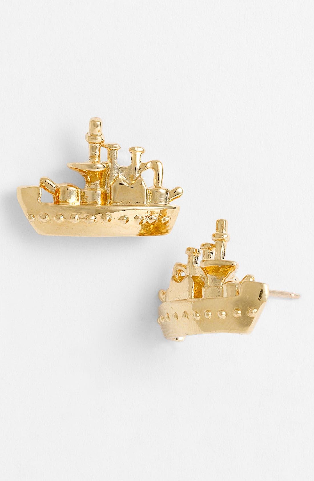 Main Image - kate spade new york 'all aboard' mini boat earrings