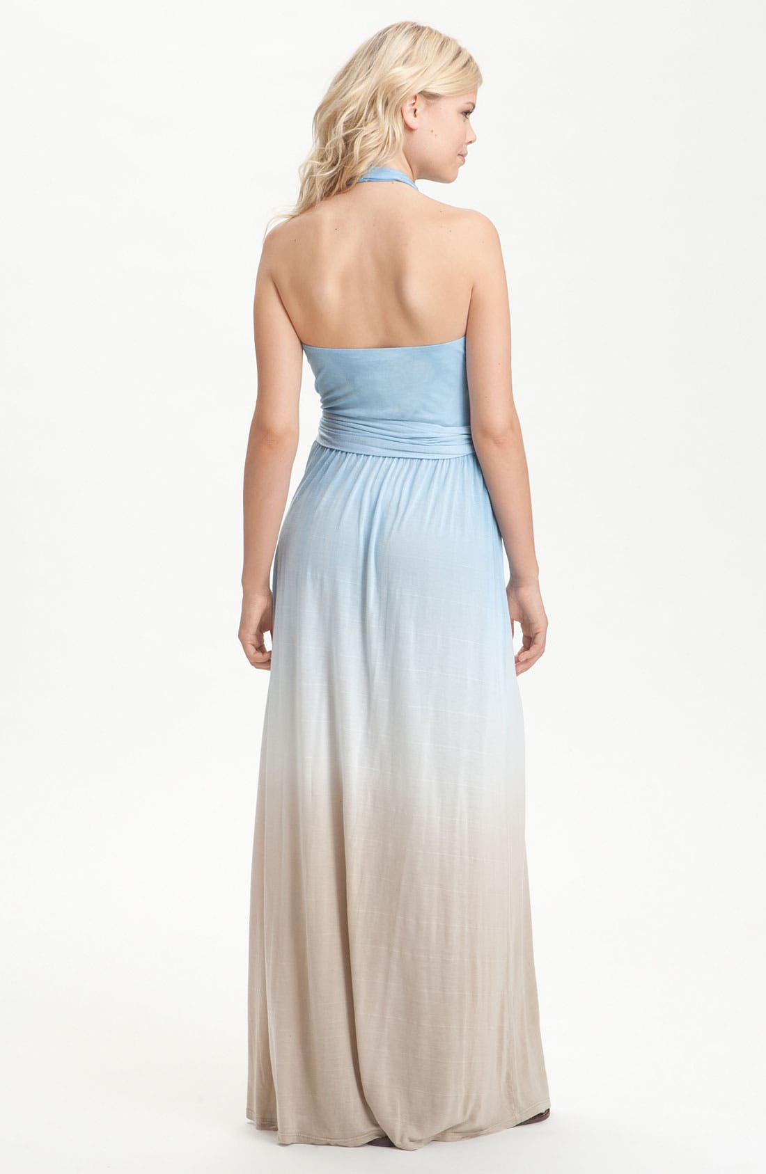 Alternate Image 2  - Young, Fabulous & Broke 'Jeremiah' Ombré Halter Maxi Dress
