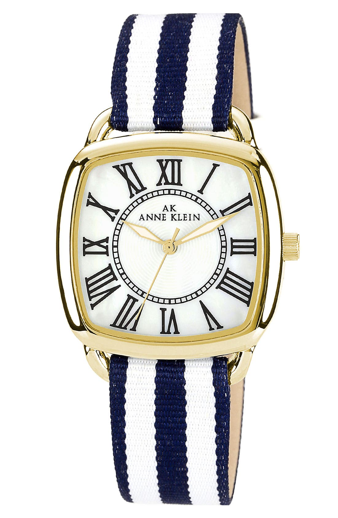 Alternate Image 1 Selected - Anne Klein Stripe Strap Watch