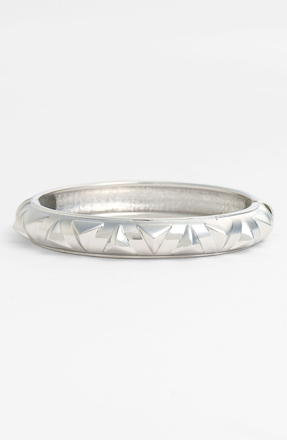 Alternate Image 1 Selected - Sequin Metal Pyramid Hinged Bangle