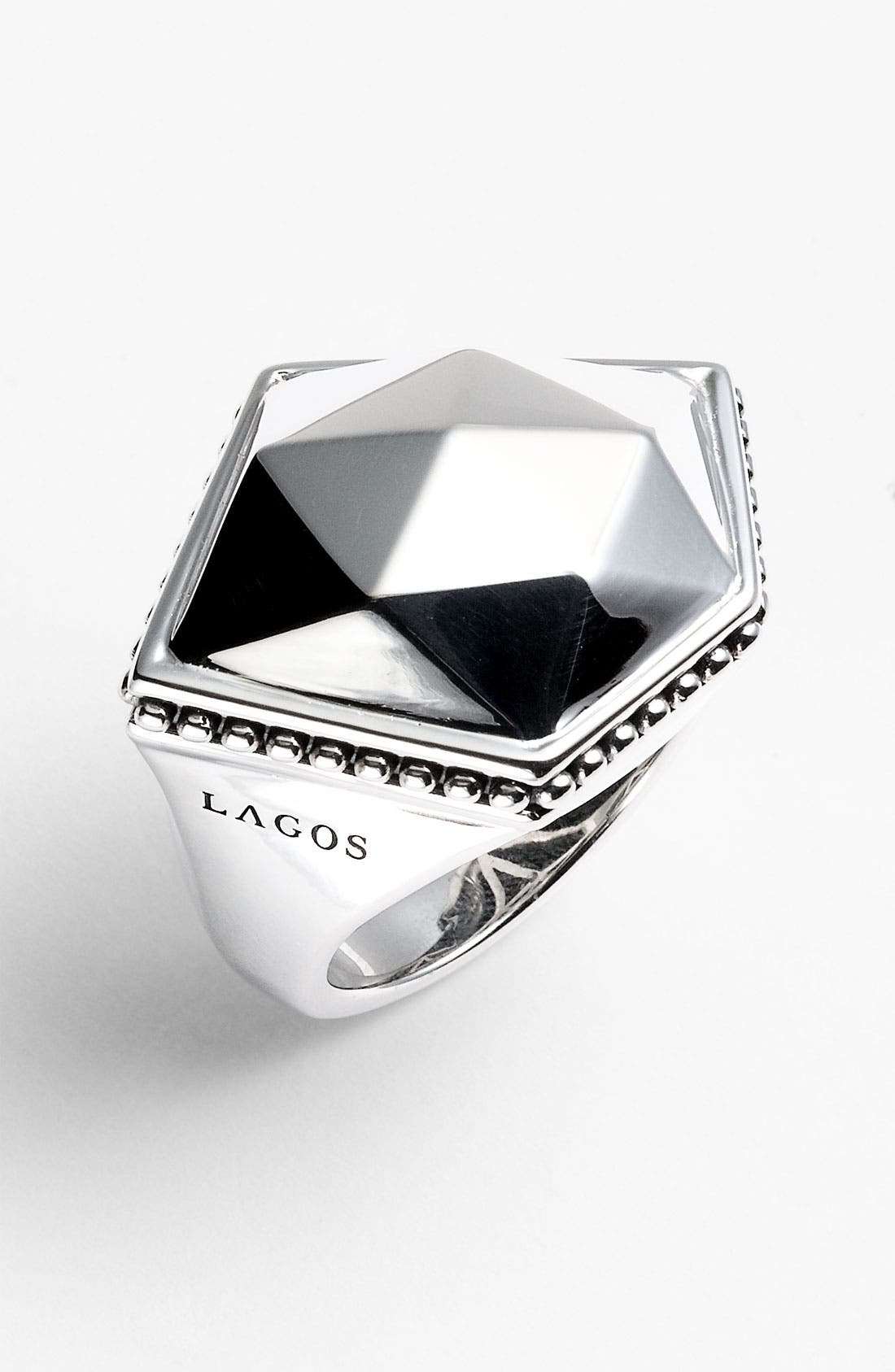 Alternate Image 1 Selected - LAGOS 'Silver Rocks' Angled Ring