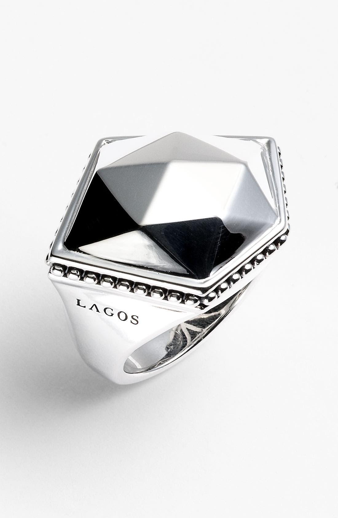 Main Image - LAGOS 'Silver Rocks' Angled Ring