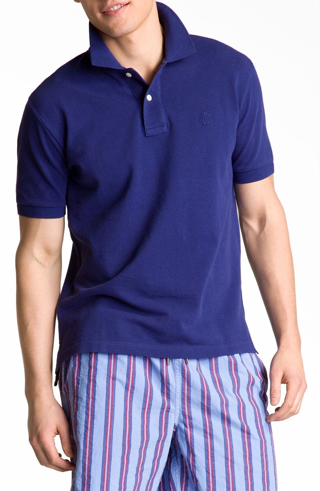Main Image - Brooks Brothers Washed Piqué Polo