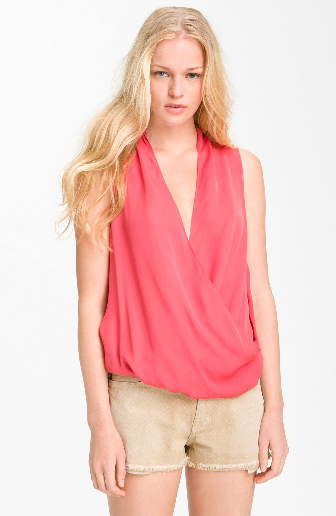 Alternate Image 1 Selected - Haute Hippie Silk Surplice Top