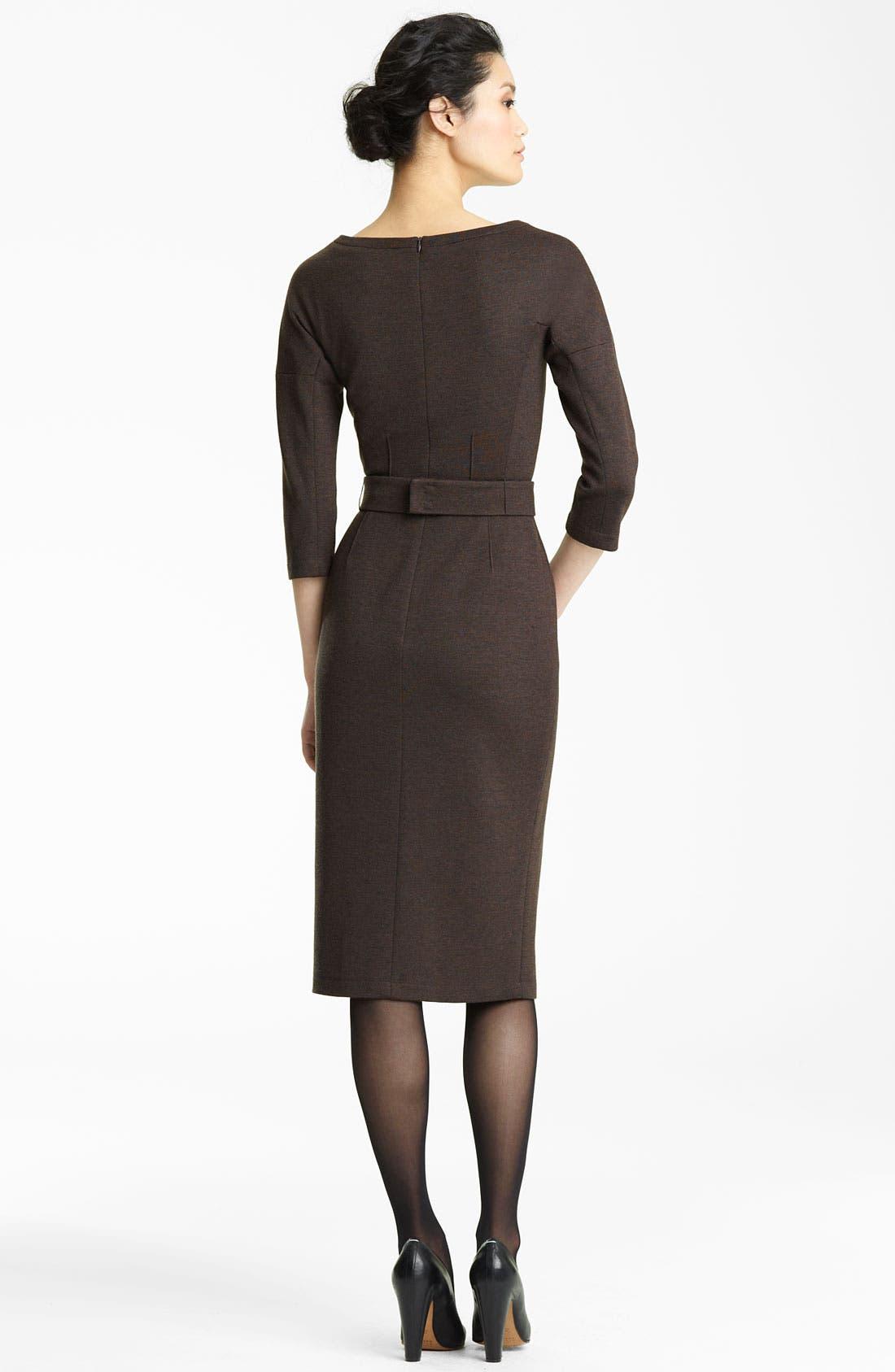 Alternate Image 2  - Lida Baday Double Knit Wool Dress